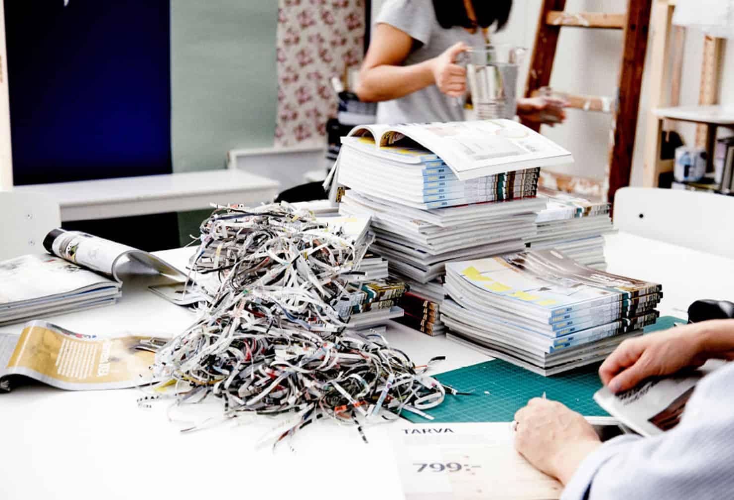 Recyclez votre catalogue IKEA en objet déco