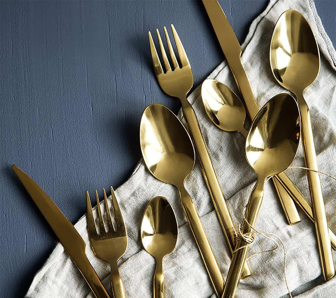 Le retour des couverts dorés sur nos tables