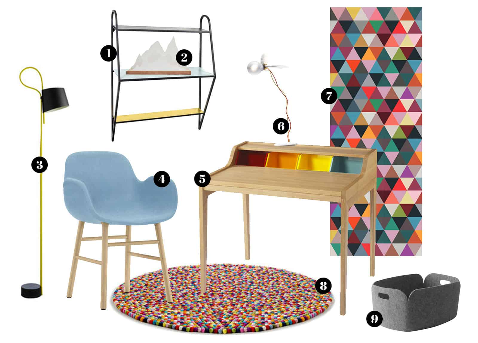 3 ambiances de bureau design shopper sur madeindesign. Black Bedroom Furniture Sets. Home Design Ideas