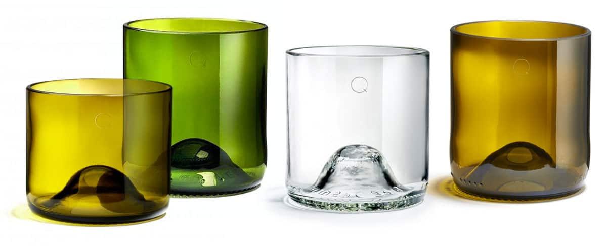 des verres des vases et des bougies en q de bouteilles. Black Bedroom Furniture Sets. Home Design Ideas