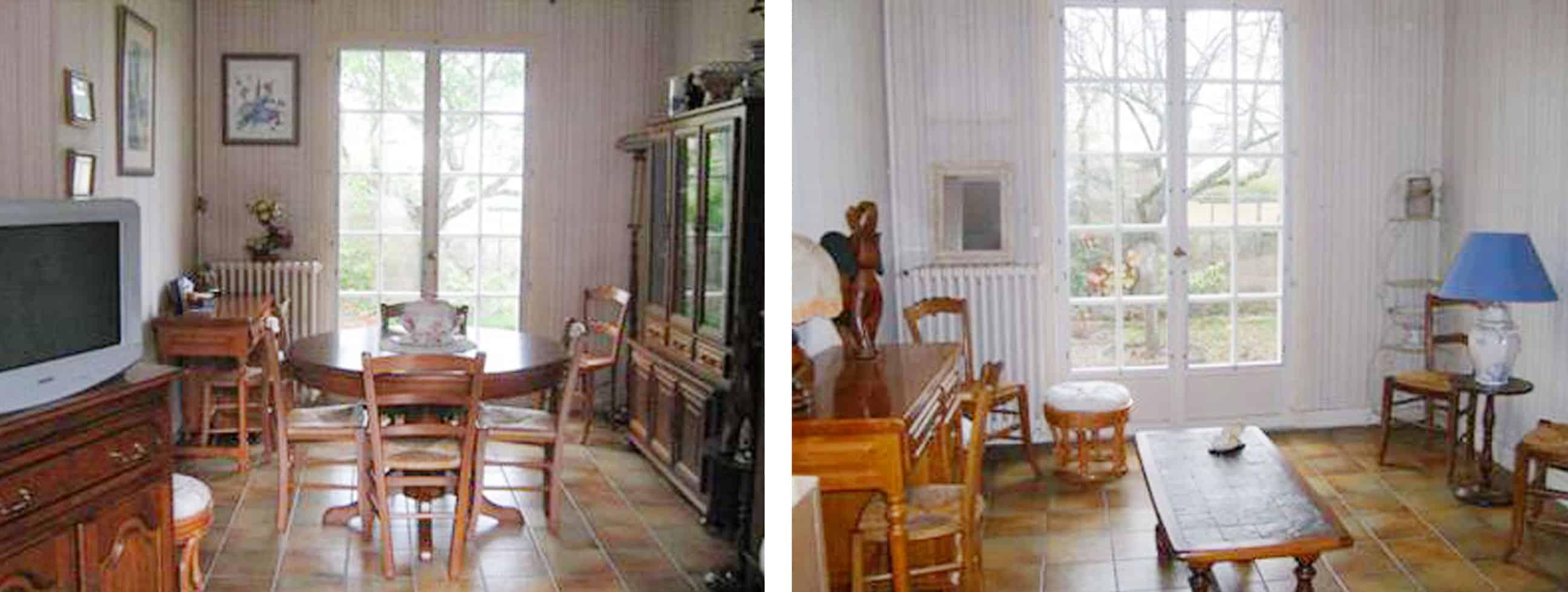 Avant / Après : salon et salle à manger de la Maison Wink